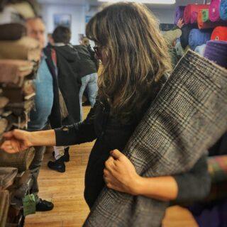 Tweed shopping in Tarbert, Isle of Harris, back in October.. . #harristweedisleofharris #harristweedisleofharrisshop #isleofharrisandlewis #isleofharris #outerhebrides #outerhebridesofscotland #westernisles #westernislesofscotland #tweedfabric #harristweedfabric #harristweed #fabric #fabriclovers #fabriclove #harristweedauthority #fabricshopping